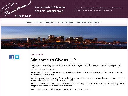 Givens LLP (780-482-7330) - Website thumbnail - http://www.givens.ca
