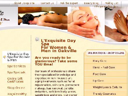 L'Exquisite Day Spa For Women &amp; Men (905-827-2222) - Onglet de site Web - http://www.lexquisite.ca