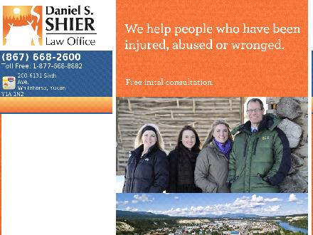 Daniel S Shier Law Office (867-668-2600) - Onglet de site Web - http://www.shierlaw.ca