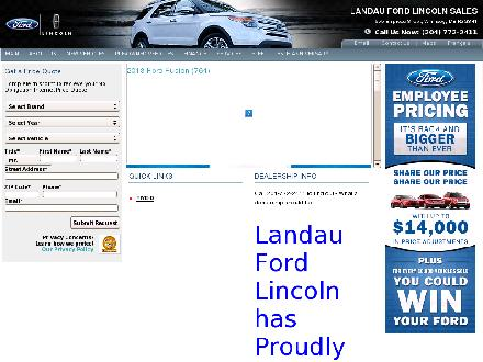 Landau Ford Lincoln Sales Ltd (204-772-2411) - Website thumbnail - http://www.landau.ca