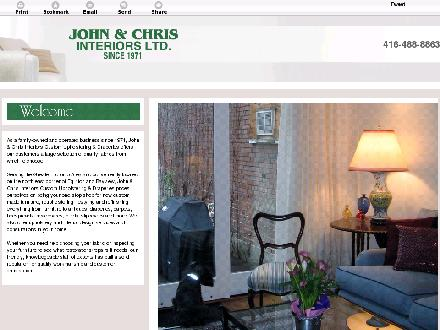 John & Chris Interiors Ltd (416-488-8863) - Website thumbnail - http://johnandchrisinteriors.ca