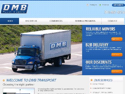 DMB Transport (514-867-8516) - Onglet de site Web - http://www.dmbtransport.com