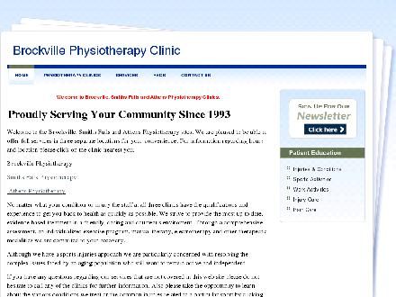 Smiths Falls Physiotherapy & Sports Injuries Clinic (613-283-9169) - Website thumbnail - http://www.BrockvillePhysiotherapy.com