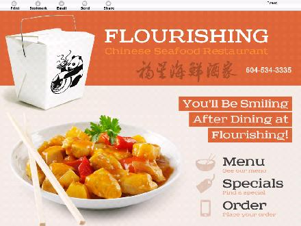 Flourishing Chinese Seafood Restaurant (604-534-3335) - Website thumbnail - http://flourishingchineserestaurant.ca/