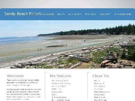 Taylor's Sandy Beach Resort (1-888-201-5547) - Website thumbnail - http://www.sandy-beach.com