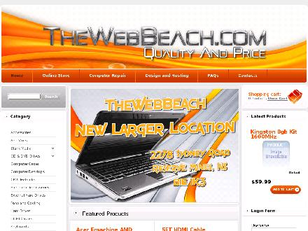 Thewebbeach Com Computer Sales & Web Design (902-842-5357) - Website thumbnail - http://www.thewebbeach.com