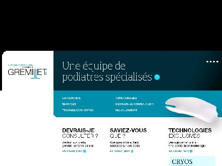 Clinique Podiatrique Fr&eacute;d&eacute;ric Gremillet DPM (450-876-1011) - Onglet de site Web - http://www.gremilletpodiatres.com