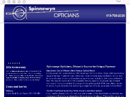 Spinnewyn Opticians (613-733-2020) - Onglet de site Web - http://spinnewynopticians.com/