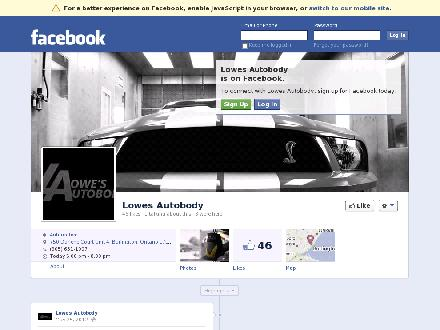 Lowe's Autobody (905-631-1007) - Website thumbnail - http://www.facebook.com/lowesautobody