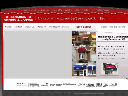 Canadian Awning And Canvas (613-542-6342) - Onglet de site Web - http://www.canadianawning.com
