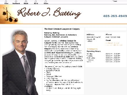 Batting Robert (403-234-1908) - Onglet de site Web - http://www.rbattinglaw.com