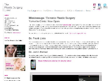 Plastic Surgery Clinic (289-814-4823) - Onglet de site Web - http://www.theplasticsurgeryclinic.com