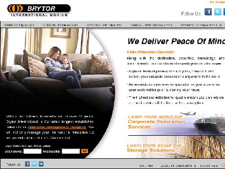 Brytor International Moving (613-567-7001) - Onglet de site Web - http://www.brytor.ca