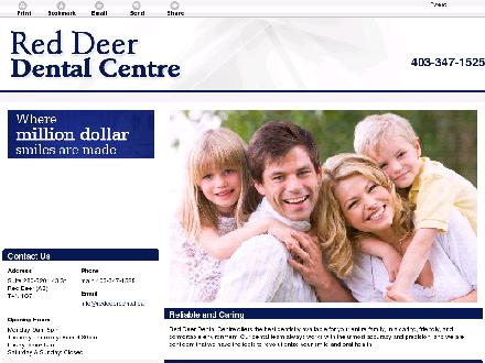 Red Deer Dental Centre (403-347-1525) - Onglet de site Web - http://reddeerdental.ca/