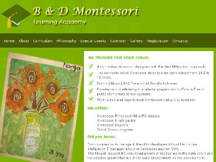B & D Montessori Learning Academy Ltd (604-464-6447) - Website thumbnail - http://www.bdmontessori.ca