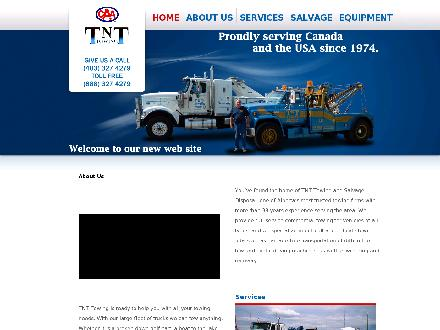 TNT Towing and Salvage Disposal (403-359-9063) - Onglet de site Web - http://www.tnttowing.ca