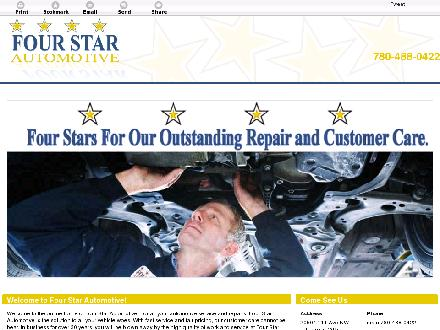 Four Star Automotive (780-488-0422) - Website thumbnail - http://fourstarautomotive.ca