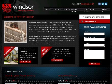 Windsor Security Ltd (604-689-7588) - Onglet de site Web - http://www.windsorsecurity.com