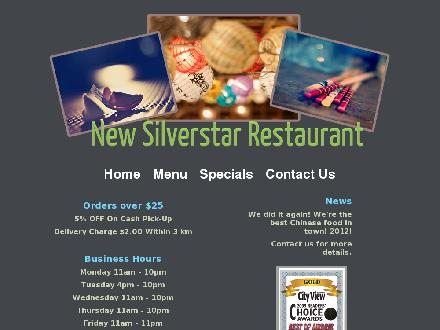 Silver Star Restaurant (403-948-5830) - Website thumbnail - http://www.newsilverstarrestaurant.com