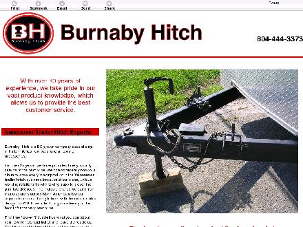 Burnaby Hitch (604-444-3373) - Onglet de site Web - http://burnabyhitch.ca/