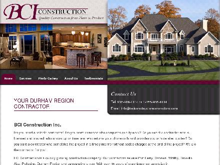 BCI Construction (905-986-4114) - Website thumbnail - http://www.bciconstructioncontractors.com