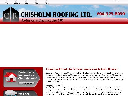 Chisholm Roofing Ltd (604-696-8999) - Website thumbnail - http://chisholmroofing.ca/