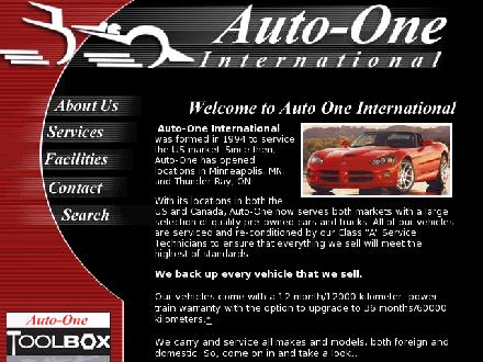 Auto-One Car Care &amp; Service (807-344-2644) - Website thumbnail - http://www.auto-one.net