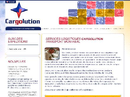 Cargolution (514-636-2576) - Website thumbnail - http://www.cargolution.com