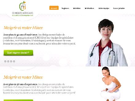 Clinique M&eacute;dicale de Nutrition et D'Amaigrissement (819-773-7373) - Onglet de site Web - http://www.cmna.ca