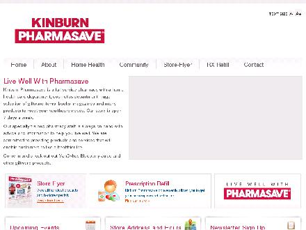 Kinburn Pharmasave (902-624-8347) - Website thumbnail - http://www.kinburnpharmasave.com/
