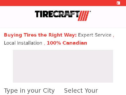 Miller Tirecraft (506-696-7733) - Website thumbnail - http://www.tirecraft.com