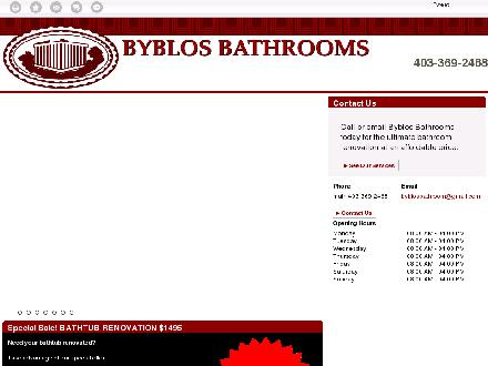 Byblos Bathrooms (403-369-2468) - Onglet de site Web - http://byblosrenovations.ca/