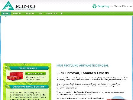 King Recycling &amp; Waste Disposal Inc (647-497-7845) - Onglet de site Web - http://www.kingrecycling.ca