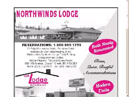 Northwinds Lodge (250-719-1436) - Onglet de site Web - http://www.northwindslodge.com