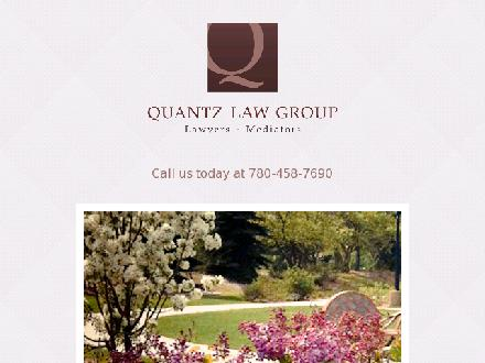Quantz Law Group (780-458-7690) - Website thumbnail - http://www.quantzlaw.com
