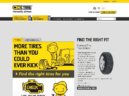 OK Tire &amp; Auto Service (Coquitlam) (604-944-4200) - Website thumbnail - http://www.oktire.com