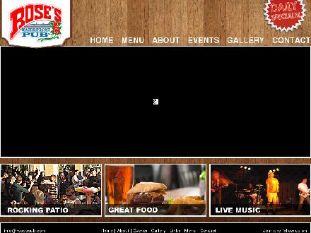 Rose's Waterfront Pub (250-860-1141) - Website thumbnail - http://www.rosespub.com