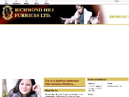 Richmond Hill Furriers Ltd (905-884-6211) - Onglet de site Web - http://richmondhillfurs.com/