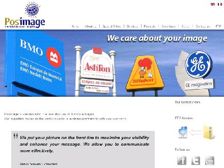 Posimage Inc (418-877-2775) - Website thumbnail - http://www.posimage.com