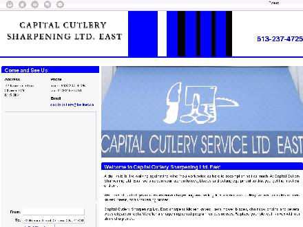 Capital Cutlery Sharpening Ltd East (613-237-4725) - Onglet de site Web - http://capitalcutleryeast.com/