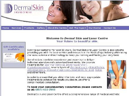 Dermal Skin &amp; Laser Centre (867-633-3005) - Onglet de site Web - http://www.dermalskin.com