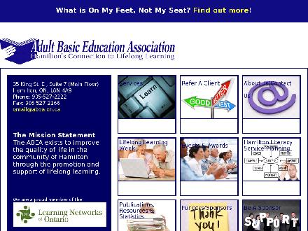 Adult Basic Education Association (905-527-2222) - Website thumbnail - http