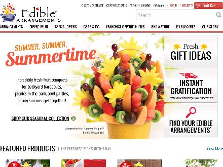 Edible Arrangements (204-777-7778) - Onglet de site Web - http://www.ediblearrangements.ca