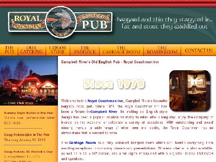 Royal Coachman Neighbourhood Pub (250-286-0231) - Onglet de site Web - http://www.royalcoachmaninn.ca