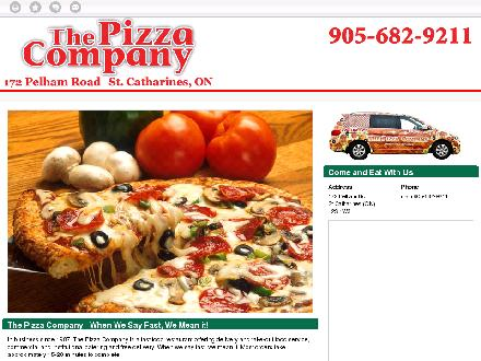 Pizza Company The (905-682-9211) - Website thumbnail - http://thepizzacompany.ca