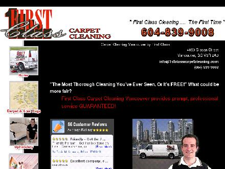 First Class Carpet Cleaning (604-839-9008) - Onglet de site Web - http://www.1stclasscarpetcleaning.com