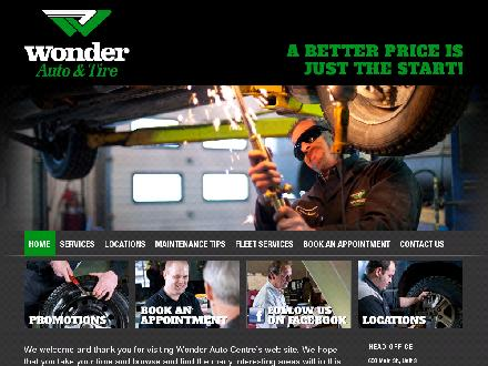 Wonder Auto &amp; Tire (506-458-8800) - Website thumbnail - http://www.wonderauto.com