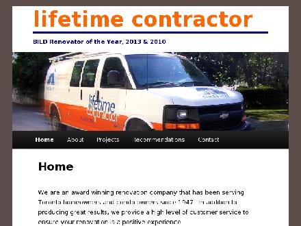 A Lifetime Contractor Ltd (416-483-2151) - Onglet de site Web - http://www.lifetimecontractor.com