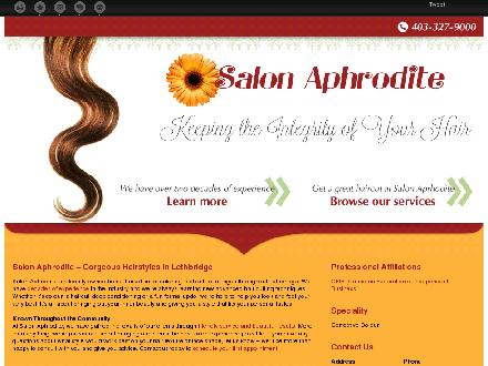 Salon Aphrodite Inc (403-327-9000) - Website thumbnail - http://salonaphrodite.ca/