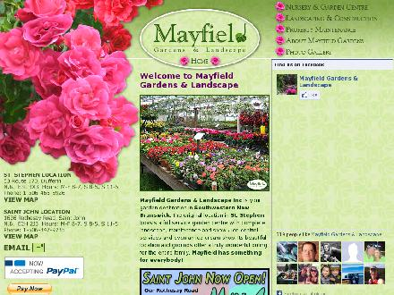 Mayfield Gardens &amp; Landscape (506-847-9735) - Website thumbnail - http://www.mayfieldgardens.ca